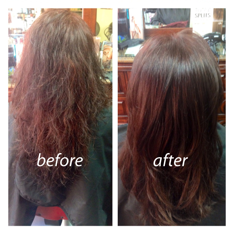 Before And After Brazilian Blowout Pictures San