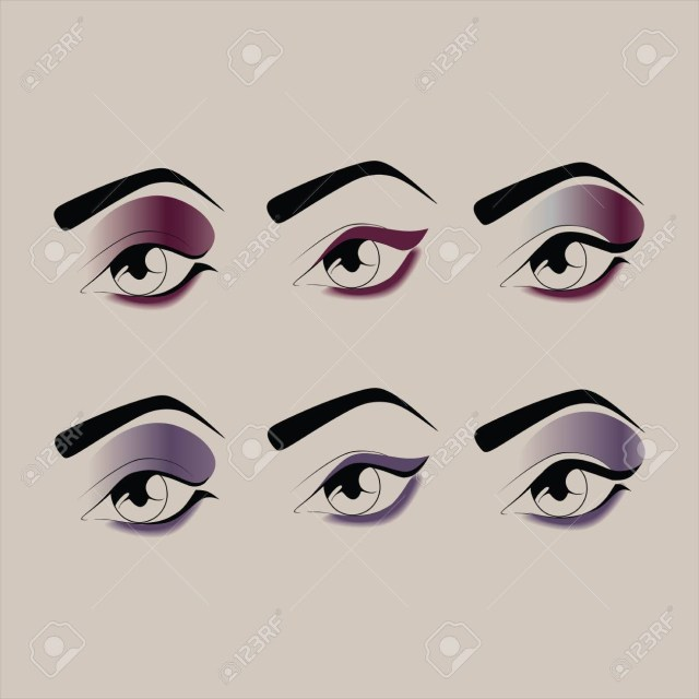 Ball Eye Makeup Eye Makeup Cosmetics Shadow Mascara Eyeliner Royalty Free