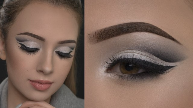 Black And Silver Eye Makeup Affordable Silver Cut Crease Makeup Tutorial Youtube