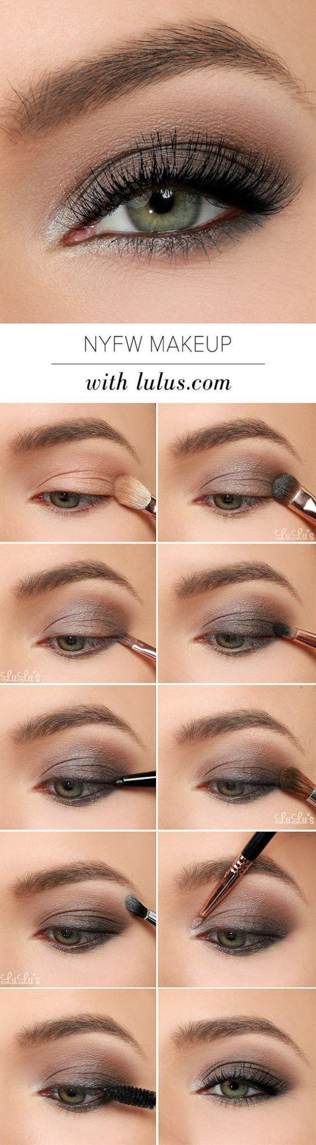 Black And Silver Eye Makeup This Nyfw Inspired Eye Makeup Tutorial Uses Gray Black And