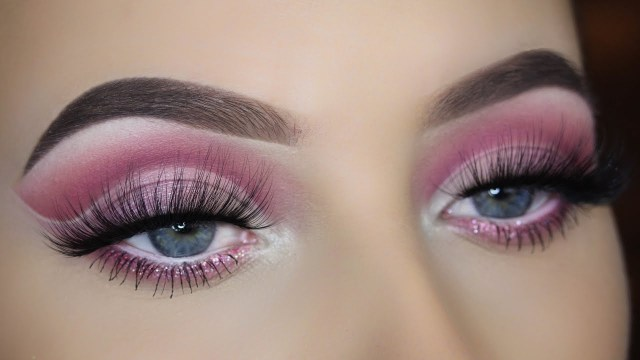 Cut Crease Eye Makeup Pink Cut Crease Eye Makeup Tutorial Youtube
