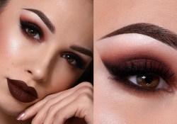 Dark Eyes Makeup Dark Brown Fall Makeup Tutorial Sultry Smokey Eye Dark Lips