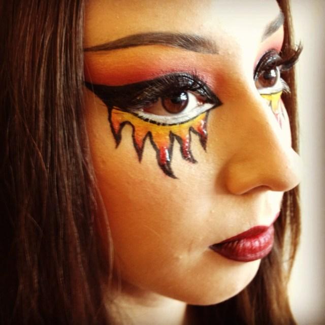 Devil Costume Eye Makeup Halloween Devil Makeup Tutorial Popsugar Beauty