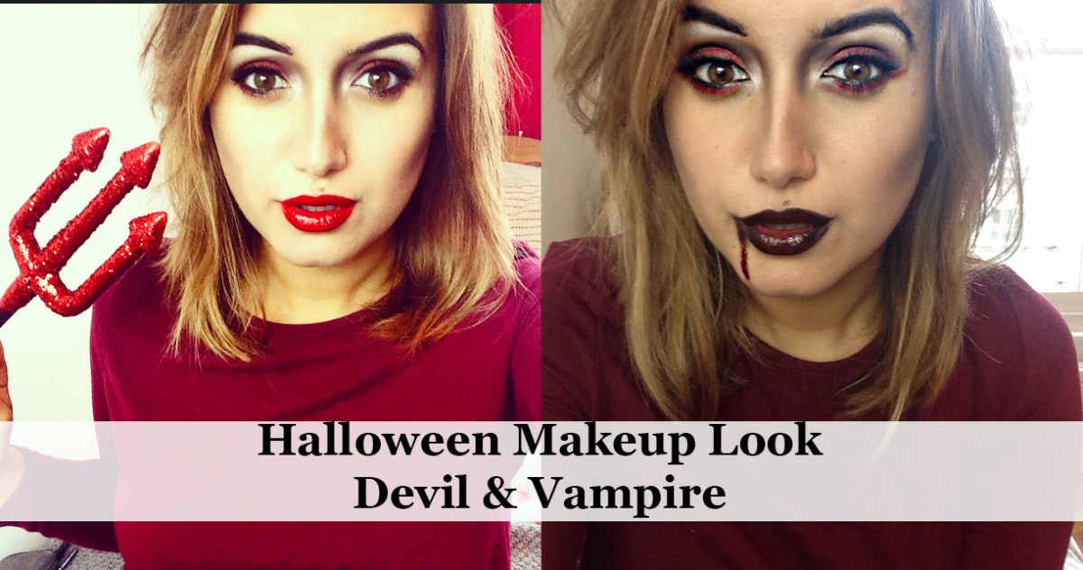 Devil Costume Eye Makeup Halloween Makeup Look Vampire Devil A Little Obsessed