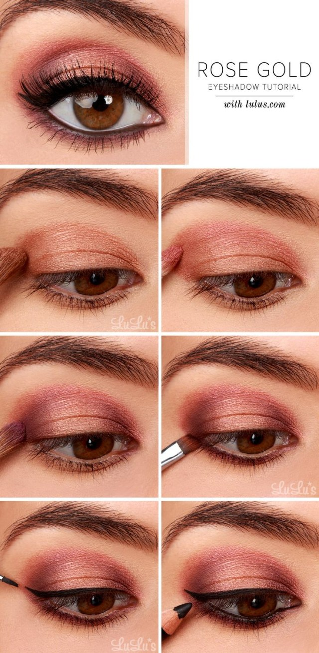 Easy Evening Eye Makeup 27 Pretty Makeup Tutorials For Brown Eyes Styles Weekly