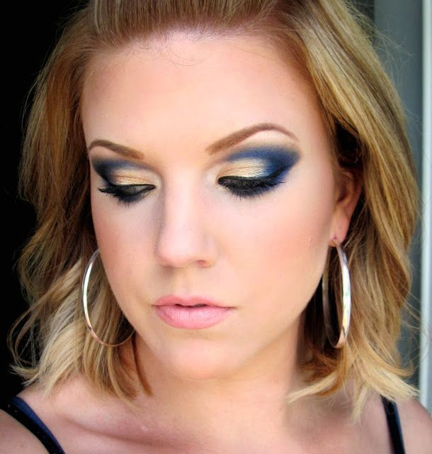 Eye Makeup For Beige Dress 12 Gorgeous Blue And Gold Eye Makeup Looks And Tutorials Pretty
