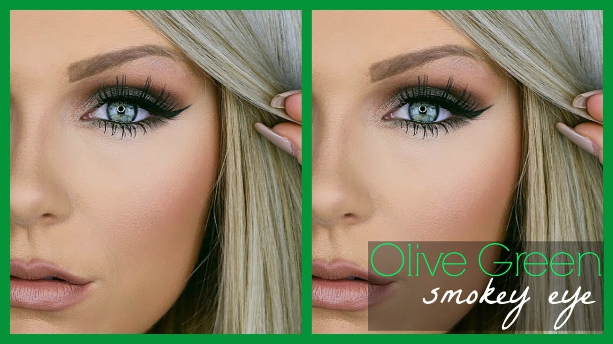 eye makeup for blue green eyes and brown hair olive green