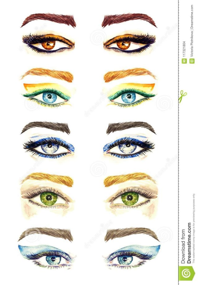 Eye Shapes For Makeup Variety Of Eyes Shapes With Different Makeup Styles Collection From