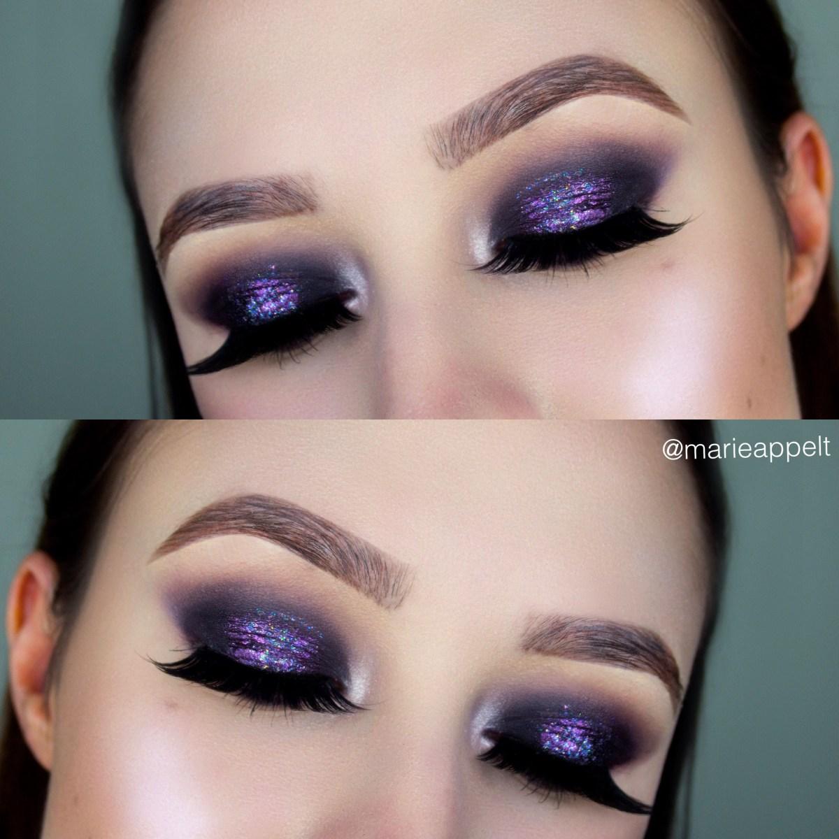 Halloween Eye Makeup Galaxy Makeup Tutorial Look Halloween Eyeshadow Eyebrows