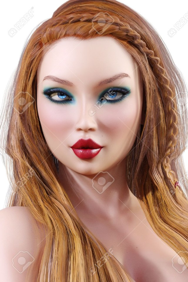 How To Do Makeup For Blonde Hair Blue Eyes Portrait Beautiful Young Girl With Blue Eyes And Red Lips Soft