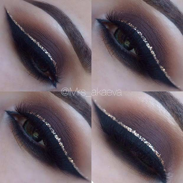 Light Brown Smokey Eye Makeup 43 Christmas Makeup Ideas To Copy This Season Stayglam