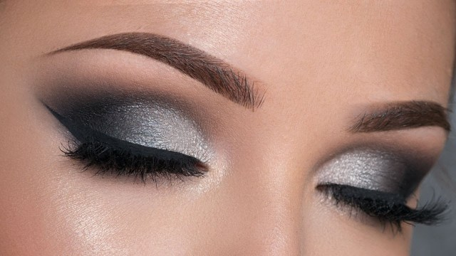 Makeup Smokey Eyes Night Out Makeup Tutorial Black Silver Smokey Eye Youtube