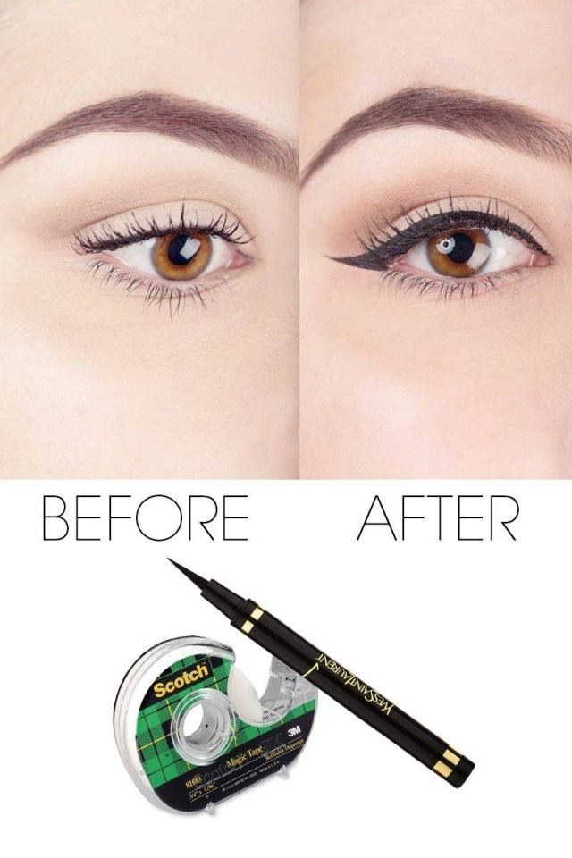 Makeup Tape Eyes Liquid Eyeliner Tips Scotch Tape Tips To Perfect Your Liquid Eyeliner