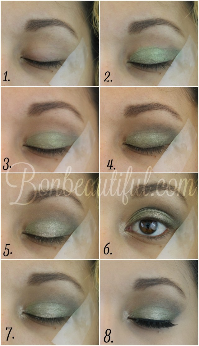 Makeup Tape Eyes Olive Green Smokey Eye Makeup Tutorial Bondbeautyful
