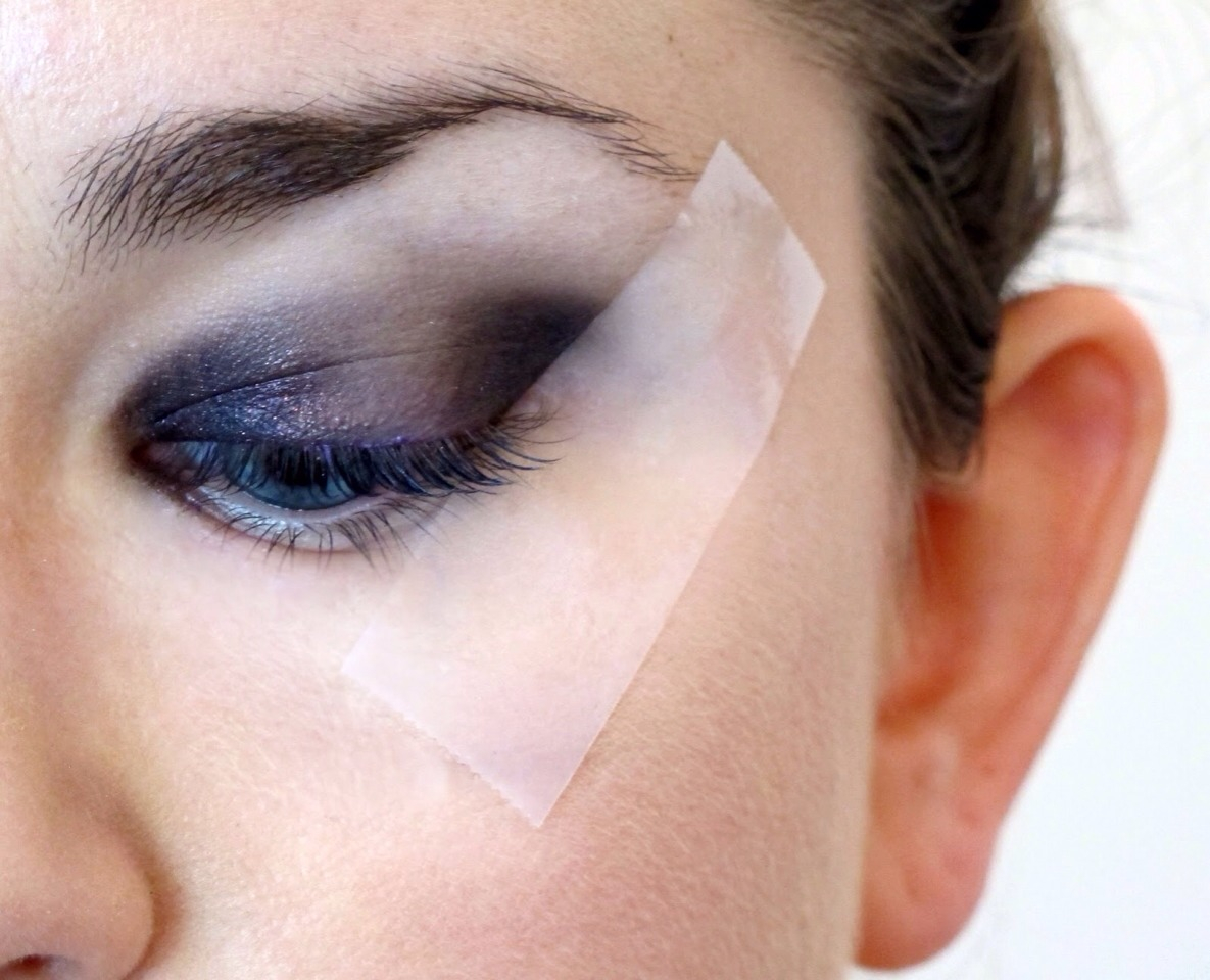 Makeup Tape Eyes Placing Tape At A Slant At The Edge Of Your Eye Can Create A Cleaner