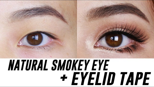 Makeup Tape Eyes Smokey Eye Makeup For Small Hooded Monolid Eyes Tina Yong Youtube