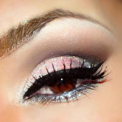 Pink And Silver Eye Makeup Bridal Silver Pink Maquillateconaurora G Preen