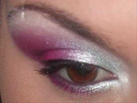 Pink And Silver Eye Makeup Hot Pink Silver Makeup Tutorial Youtube