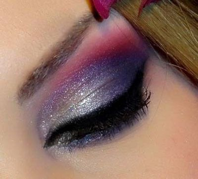 Pink And Silver Eye Makeup Purple Pink And Silver Eye Veronica M On The Makeup Bee Make