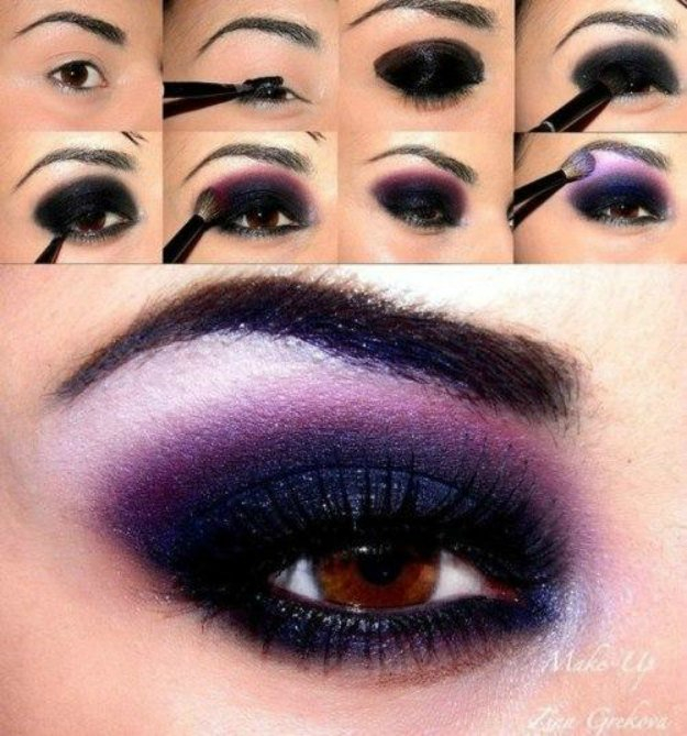 Purple And Gold Smokey Eye Makeup 15 Smokey Eye Tutorials Step Step Guide To Perfect Hollywood Makeup