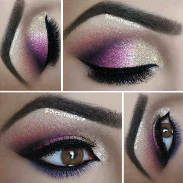 Purple And Gold Smokey Eye Makeup I Love Cute Makeup Part 29