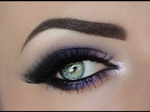Purple And Gold Smokey Eye Makeup Sultry Purple Smokey Eye Youtube