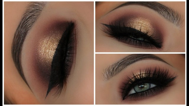 Red And Black Eye Makeup Gold Black Halo Smokey Eyes Amys Makeup Box Youtube