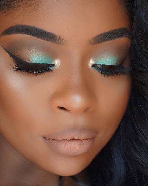 Teal Smokey Eye Makeup Best Ideas For Makeup Tutorials Teal Mint Smokey Eye Makeup For