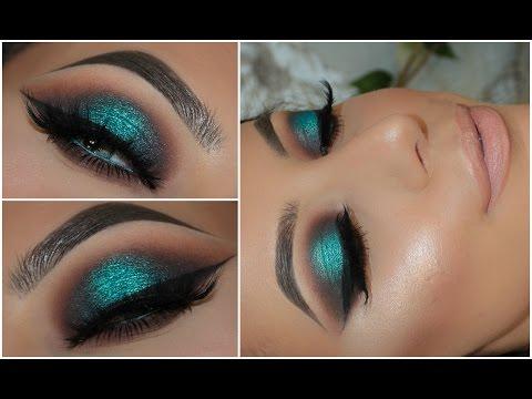 Teal Smokey Eye Makeup Halo Teal Pop Of Colour Smokey Eye Eye Makeup Art