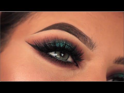 Teal Smokey Eye Makeup Halo Teal Pop Of Colour Smokey Eye Youtube