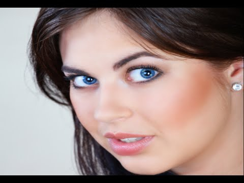 Wedding Makeup Blue Eyes Brown Hair How To Apply Eye Makeup For Blue Eyes And Brown Hair Youtube