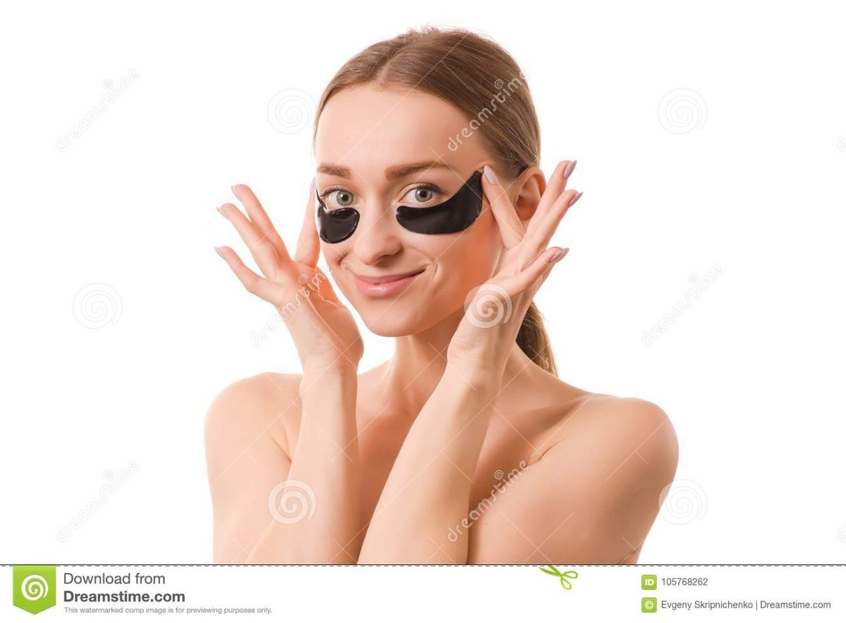 White Makeup Under Eyes Beautiful Young Woman Face Patches Under Eyes Stock Photo Image Of