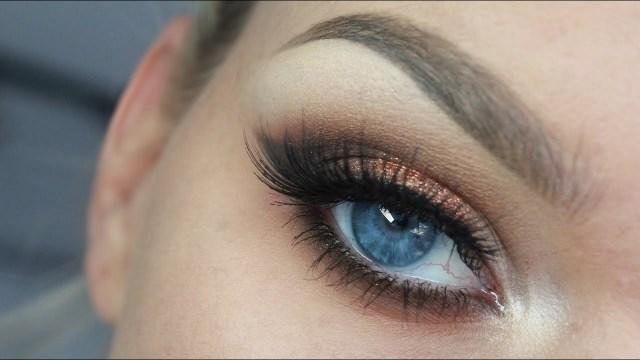 Winged Eye Makeup Copper Winged Eyeshadow Youtube