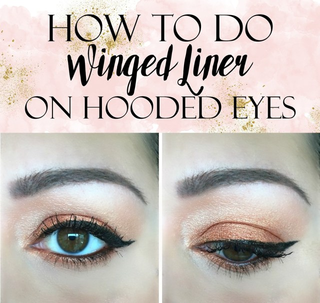 Winged Eye Makeup How To Apply Winged Liner On Hooded Eyes Tutorial
