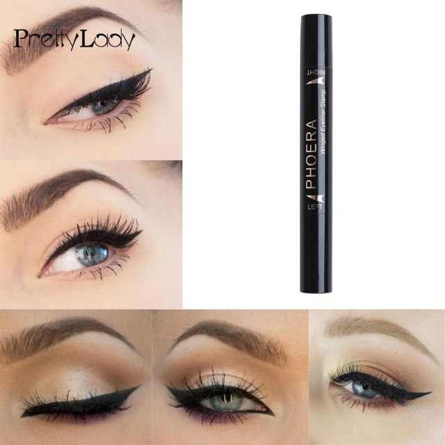 Winged Eye Makeup Liquid Eyeliner Stamp Waterproof Makeup Cosmetic Black Winged Eye