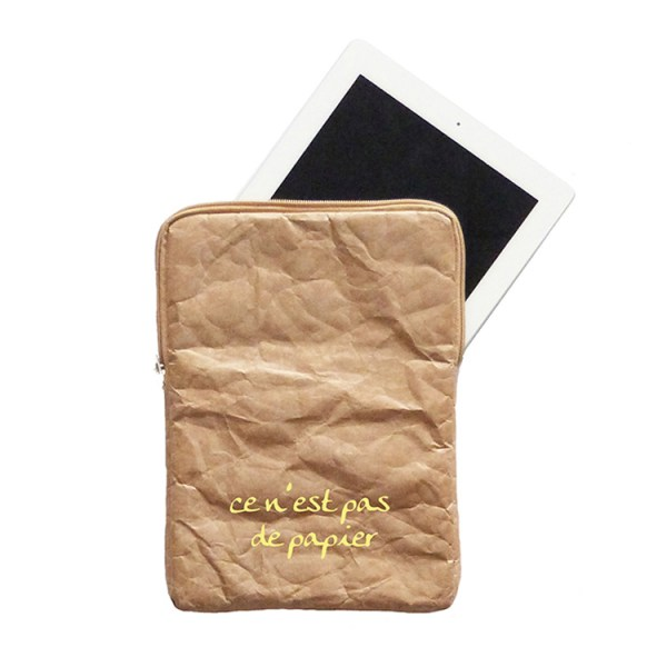 tyvek, ipad cover, ipad sleeve, brown tyvek