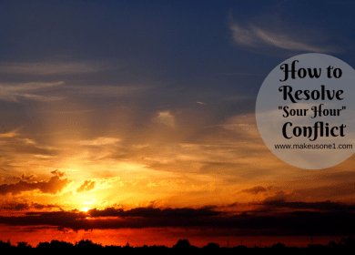 "How to Resolve ""Sour Hour"" Conflict