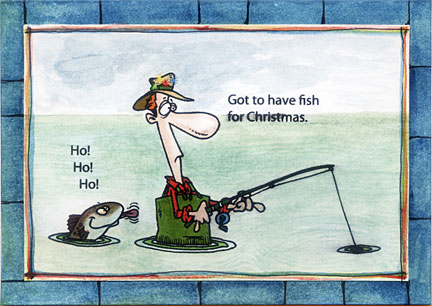 Fishing Christmas Cards