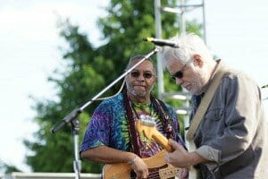 George Porter Jr. and Brian Stolz of the Funky Meters