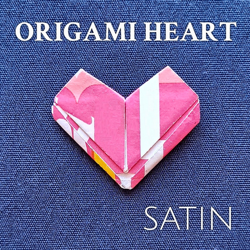 Satin  Origami Heart