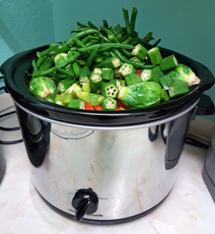 """Slightly"" overloaded slow cooker!"
