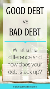 Good debt vs bad debt. Before take out another loan ask yourself whether your new purchase is going to be good debt or bad debt. Find out here what the difference is and how your debt stacks up.