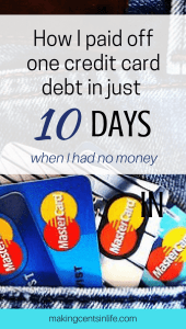How to pay off your credit card debt when you don't have any money! Find out some of the tips and tricks I used to pay off a $5K credit card debt in just 10 days!