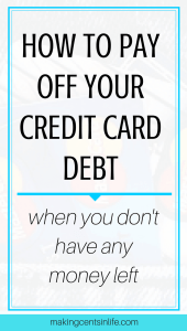 Fnd out how I paid off a large credit card debt in just 10 days with no savings!