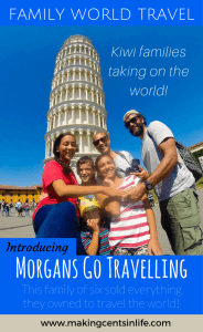 Family World Travel - Kiwi families taking on the world! Meet the Morgans who are Morgans Go Travelling! They are a family of six who sold all of their belongings and travelled the world. Click on thru to read their story.