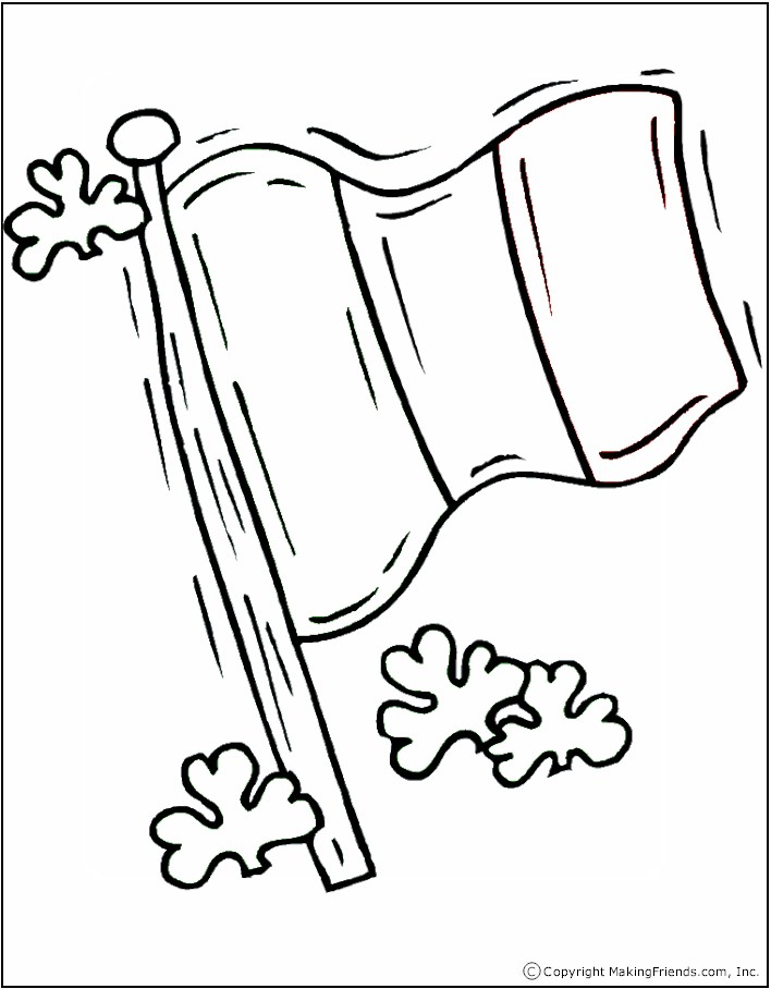 irish flag coloring page