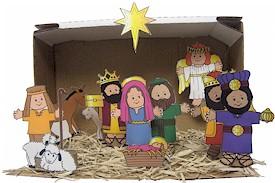 Papieren kerststal