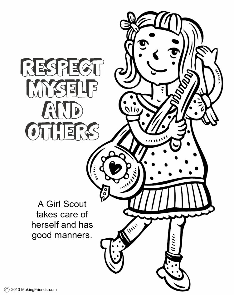 worksheet on az drawing respect myself and others coloring pages – Respect Worksheets
