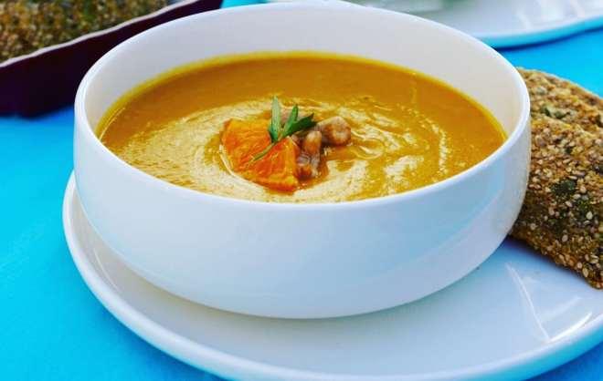 Creamy Carrot Orange Soup with Cashews
