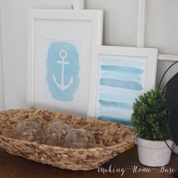 Summertime has got us inspired to add nautical decor to our home! Check out these 6 great DIY Nautical Decor projects from the best blogs. @diyjustcuz